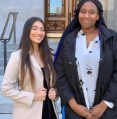 Thank you to our amazing students, Imaan and Paris, for representing IUSD at the annual education advocacy trip at the State Capitol. And as an added bonus, they had the opportunity to hang out with our own fabulous Board Member, Lauren Brooks ❤️#iusd